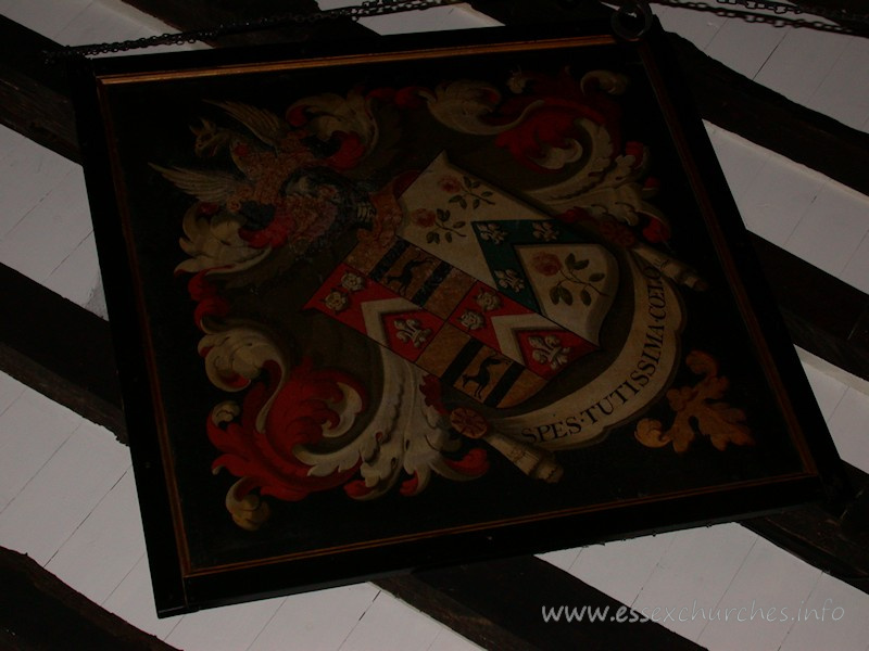 Hatchment from Bobbingworth Church - as taken