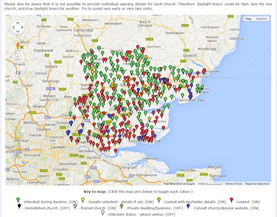 Essex Church Locking Map