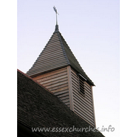 All Saints, Vange Church - As far as I am aware, the belfry now proudly sitting on top of 