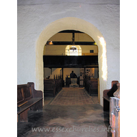 All Saints, Vange Church - Looking W through the chancel arch.