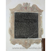 All Saints, Vange Church - To the memory of Mary the vertuous wife of 