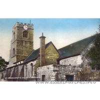 St Margaret, Barking Church - Postcard by Cranley Commercial Calendars, Ilford, Essex.