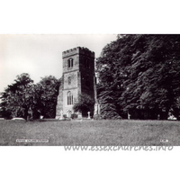 All Saints, Epping Upland Church - Postcard by Cranley Commercial Calendars, Ilford, Essex.