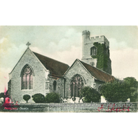 St Clement, Leigh-on-Sea Church - A most peculiar postcard, which purports to be Prittlewell Church. It is, of course, St Clement, Leigh-on-Sea.