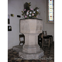 St John the Baptist, Little Maplestead Church - The font, possibly C11.