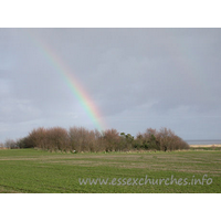 St Peter-on-the-Wall, Bradwell-juxta-Mare  Church - Just to the right was a beautiful rainbow, looking for all the 
