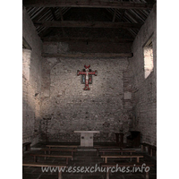 St Peter-on-the-Wall, Bradwell-juxta-Mare  Church - The interior, looking east towards the altar.