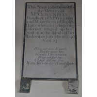 St Mary the Virgin, North Shoebury Church - This stone is dedicated to the Memory of Mrs Olive Kelly. Daughter of Mr William and Mary Budd of Ropley, Hants, who after a lingering disorder, resign'd up her Soul into the hands of her Redeemer, June the 10th 1746 Aetat: 23 === Weep not dear Friends, But for your Sins, In peace I do remaine. Weep not for me: Christ sett me free, From Sorrow, Grief and Pain.