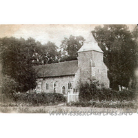 St Mary the Virgin, North Shoebury Church - Postcard - Published by H.J. Adey, Shoeburyness