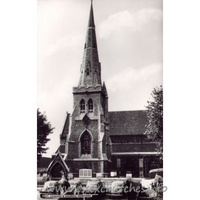 St Edward the Confessor, Romford Church - Postcard by Cranley Commercial Calendars, Ilford, Essex.
