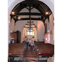 St Andrew, South Shoebury Church - Looking west from the chancel.