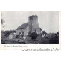 St Andrew, South Shoebury Church - Postcard - The IXL Series