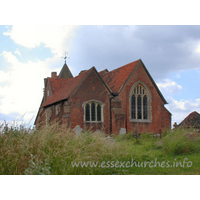 All Saints, East Horndon Church - Just North of the Southend Arterial Road (A127), atop a hill, stands this lovely red brick church. Despite its prominent position, patrons of the nearby Halfway House pub are oblivious to its existence, as it is hidden by greenery.