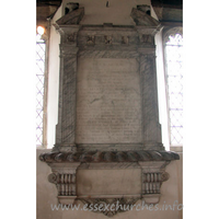 All Saints, East Horndon Church - Monument to Sir John Tyrell, 1766. Signed by Nollekens.