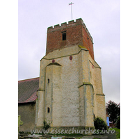 All Saints, Dovercourt Church - The W tower is perpendicular, with diagonal buttresses and battlements.