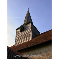 St Mary, Aythorpe Roding Church - The church sports a C15 belfry with broach spire.