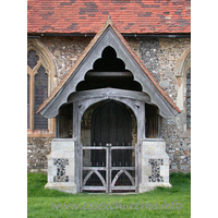 St Botolph, Beauchamp Roding Church - South porch.