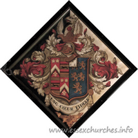 St Germain, Bobbingworth Church - For Capel Cure, of Blake Hall, who married, in 1822, Frederica, daughter of Lt.-Gen. Cheney. of Langley Hall, Derby, and died 1st February 1878, aged 80.