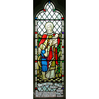 St Catherine, Wickford Church - This window depicts Mary and the baby Jesus. It is dedicated to Constance Burton, who was the wife of a Conservative MP from Sudbury, named Colonel H.W. Burton OBE.