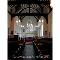 St Margaret, Stanford Rivers Church - This view of the church interior shows the nave roof with 
