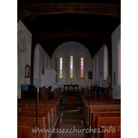 St Mary, Broxted Church - The chancel has its original lancet windows, though the nave 