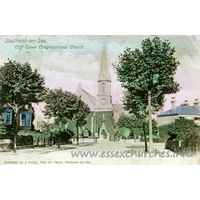 Clifftown Congregational, Southend-on-Sea  Church -    Published by J. Adams, Fine Art Depot, Southend-on-Sea.