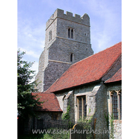 St Peter, Paglesham Church -    The stonework of the tower is from the 15th Century, and is  almost entirely original.