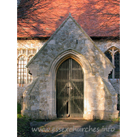 St Peter, Paglesham Church -    This porch was built during a 19th century restoration.