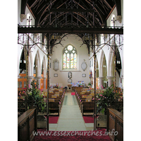 St Mary (New Church), Mistley  Church - Looking W from the chancel, one can see how light the clerestory really does make this church.