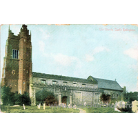 St Nicholas, Castle Hedingham Church - Postcard by F. Artis, Dedham.