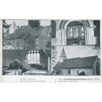 All Saints, Sutton Church - An undated postcard.
