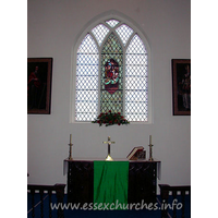 St Giles, Mountnessing Church - The altar and E window.