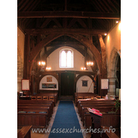 St Giles, Mountnessing Church - Looking west from the chancel.