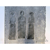 All Saints, Rettendon Church - Brass of c1535, with a civilian and two wives. Sadly, the 