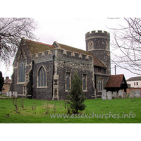 St Nicholas, South Ockendon Church - The perpendicular N chancel chapel is C13, as is the round 