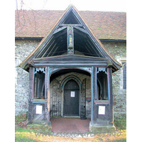 St Mary, Runwell Church - The N porch, seen here, has many interesting features. The 