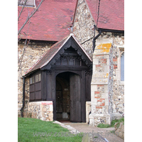 St Nicholas, Laindon Church - The S porch is essentially C15, though is much restored.