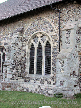 St Catherine, East Tilbury Church - A closer view of the blocked S arcade, now pierced with a 