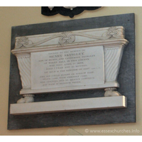 "St Peter ad Vincula, Coggeshall Church - Sacred to the memory of Henry Skingley, son of Henry and Catherine Skingley, of Wakes Hall in this county, who died April 1st 1839, aged 1 year and 10 months. === ""Of such is the kingdom of God"" - Mark X. 14 === Ere six could blight or sorrow fade, death came with friendly care; the opening bud to heaven convey'd, and bade it blossom there."