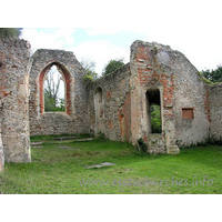 St Peter (Ruins), Alresford Church - Another shot, looking across the nave. The opening is possibly the rood staircase area.