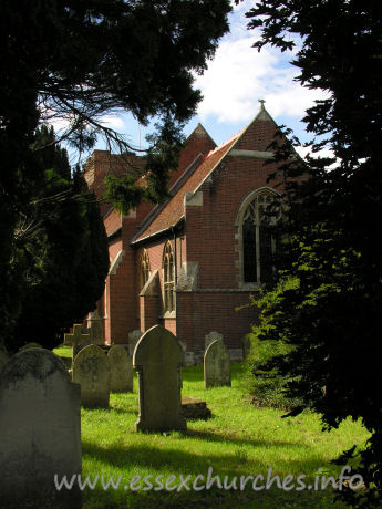 St Andrew, Weeley Church - Here, Weeley church is seen from the east. The vast majority of the church today is that of 1881, by E.C. Robins.