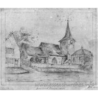 St Thomas Chapel, Brentwood  Church - Image from 1842, showing Brentwood St Thomas in 1834.