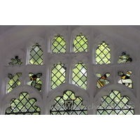 St Mary the Virgin, Henham Church - Fragments of medieval glass in the E window.