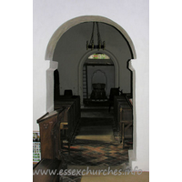 St Mary the Virgin, Strethall Church - The plain 'chancel side' of the arch.