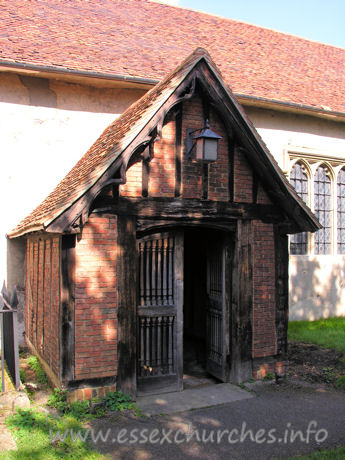 All Saints, Nazeing Church - The S porch is C15.