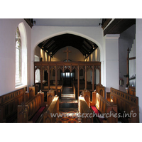 All Saints, Nazeing Church - Looking westwards, from the altar.