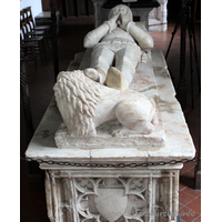 St Mary the Virgin, Layer Marney Church - Monument to Sir William Marney (d.1414): Alabaster effigy.
